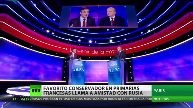 Francia: El candidato conservador a la presidencia llama a mejorar las relaciones con Rusia