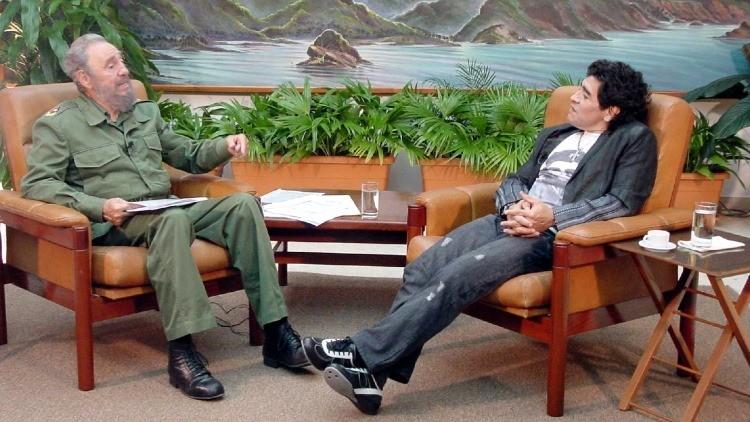 Resultado de imagen de Maradona y Fidel
