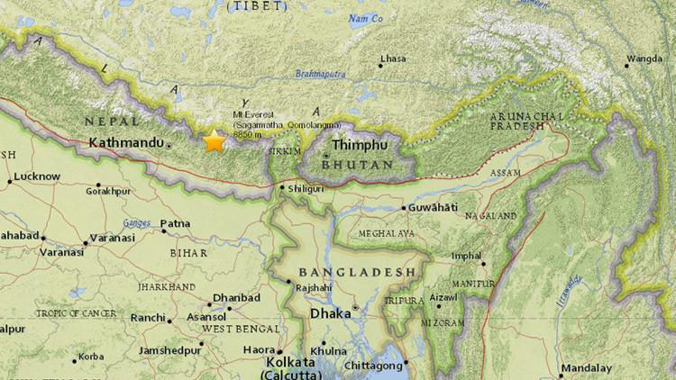 Se registra un sismo de magnitud 5,4 en Nepal