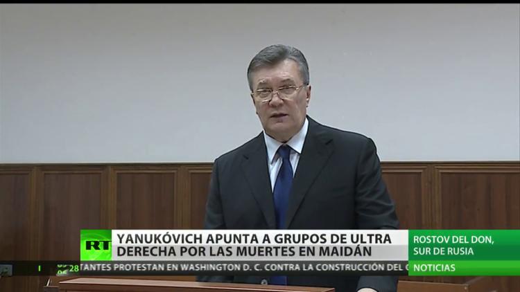 Yanukóvich señala a los grupos de ultraderecha por las muertes en Maidán