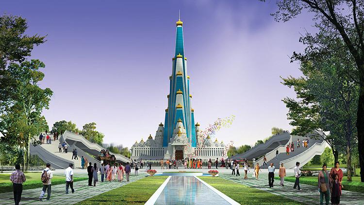 La India levanta el templo más alto del mundo (Fotos)