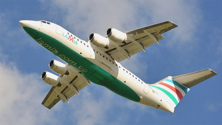 El avión accidentado en Colombia había transportado recientemente a la selección argentina de fútbol