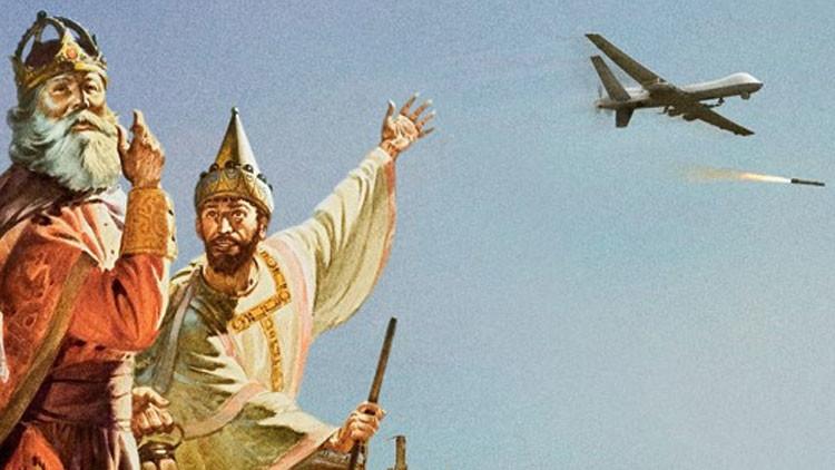 La guerras de Oriente Medio protagonizan unas impactantes tarjetas de felicitación de Navidad