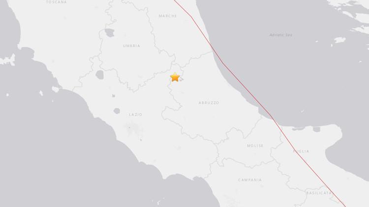 Un sismo de magnitud 4,5 sacude el centro de Italia