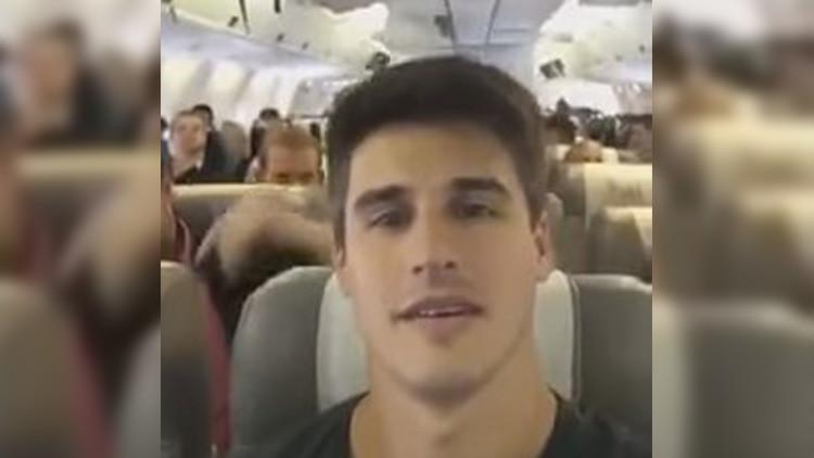 ¿Es este el último saludo del Chapecoense a sus seguidores dentro del avión?