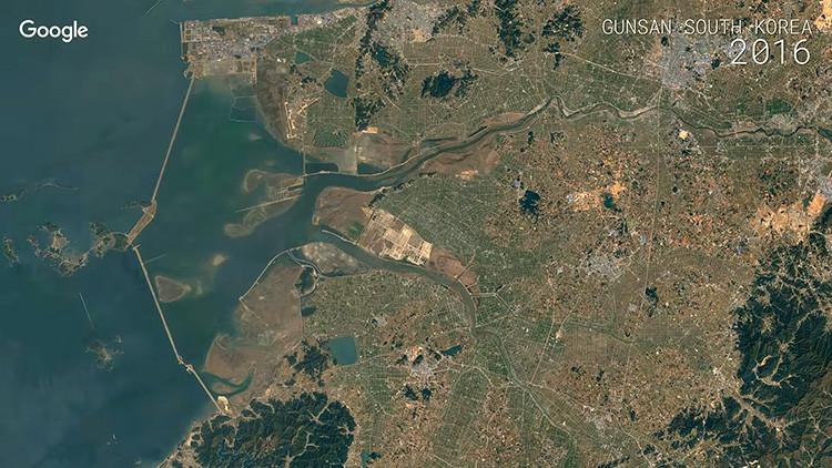 Impactantes videos en 'time-lapse' de Google muestran cómo ha cambiado la Tierra en 30 años