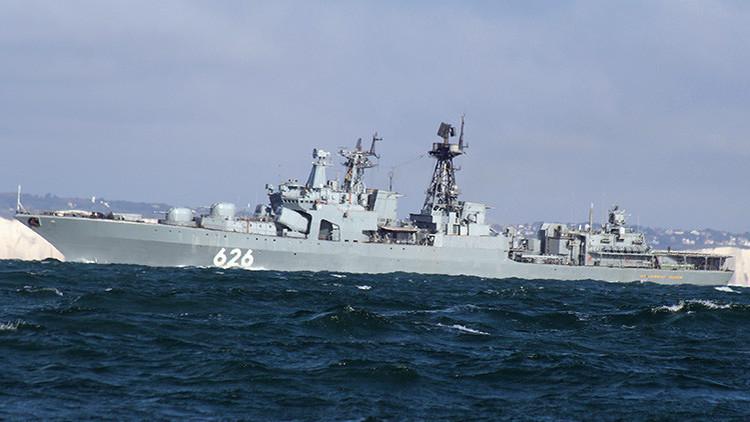 Una fragata antisubmarina rusa entra en el Atlántico