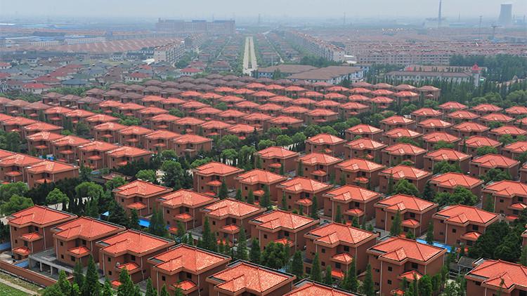 Villas en Huaxi, Jiangsu, China, el 31 de mayo de 2010.