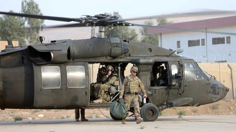 Soldados estadounidense en una base militar cerca de Mosul, Irak, el 18 de octubre de 2016.