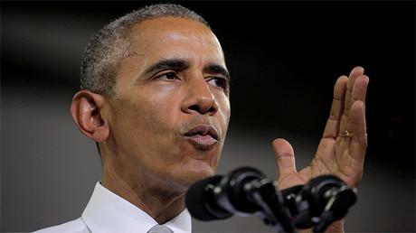 El presidente de EE.UU., Barack Obama habla en un mitin de la campaña electoral de la candidata demócrata Hillary Clinton en Orlando, Florida (EE.UU.), 28 de octubre de 2016