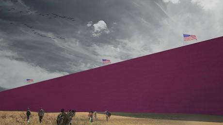 Ilustración del proyecto de muro fronterizo de Estudio 3.14
