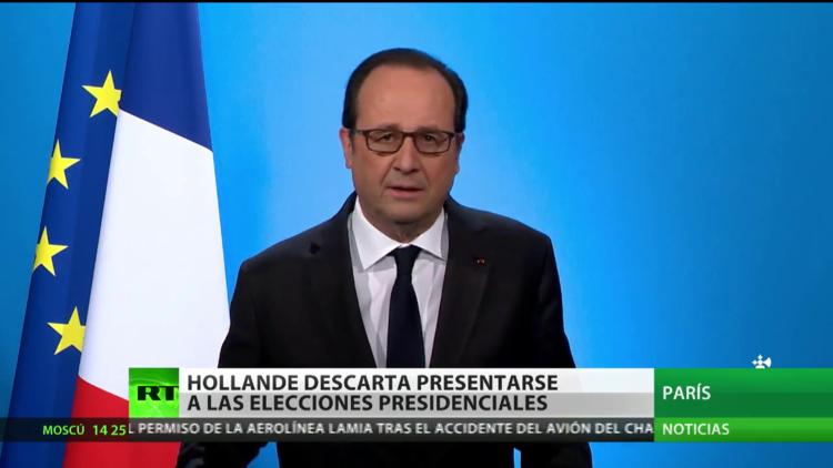 Hollande descarta presentarse a las elecciones presidenciales de Francia