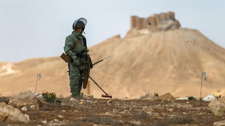 Zapadores rusos se dirigen a Siria para desminar Alepo