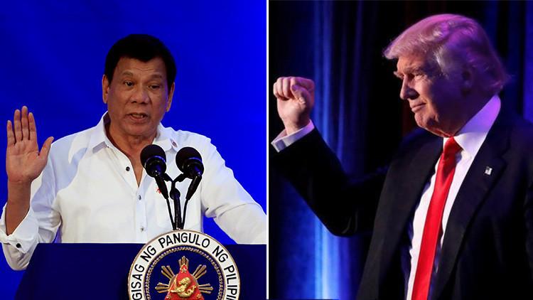 Duterte afirma que Trump elogió su política antidrogas