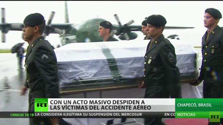 Brasil despide a las víctimas de la tragedia del Chapecoense
