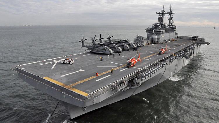 ¿Qué hacen los buques de desembarco de EE.UU. en las costas de Siria?