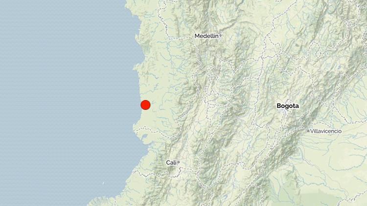 Un sismo de 5,1 sacude la costa pacífica de Colombia