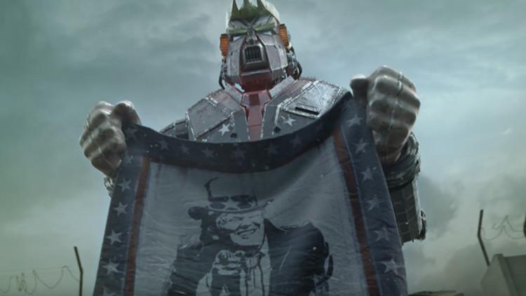 Video: Una película muestra a Trump como un robot gigante que lanza misiles contra los mexicanos