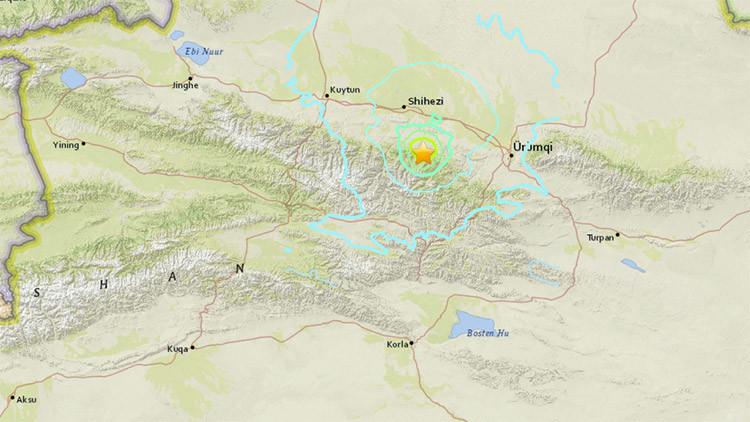Un terremoto de magnitud 5,9 se registra en China