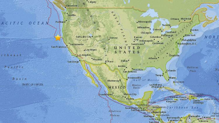 Un sismo de magnitud 6,5 sacude la costa de California