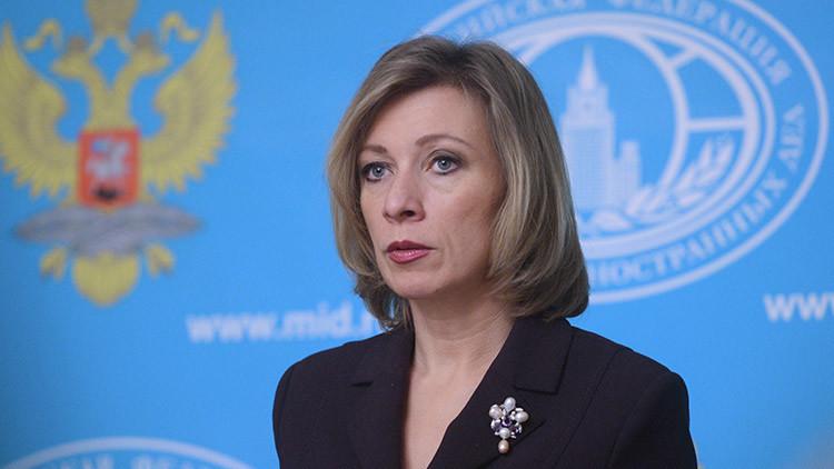 """What do yo want?"": Zajárova comenta qué le dijo Lavrov a un periodista de Reuters"