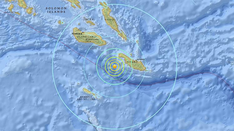 Un terremoto de magnitud 6,9 sacude el Pacífico
