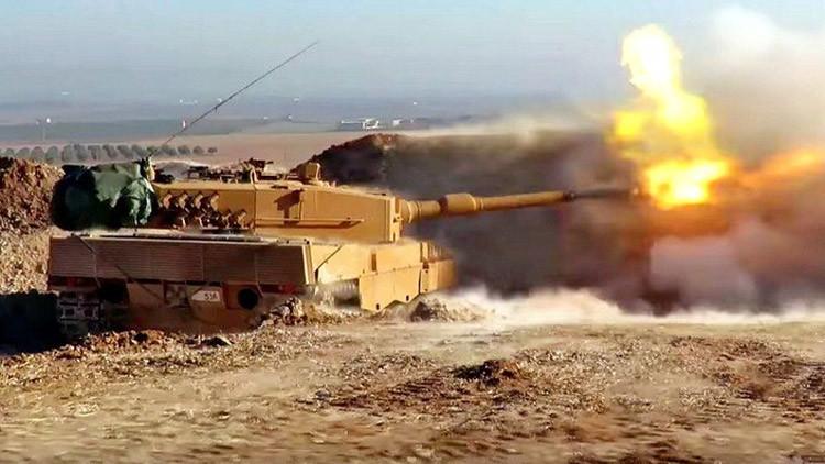 Filman por primera vez los tanques alemanes de Turquía en acción en Siria (Video)