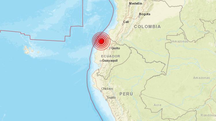 Un sismo de magnitud 5,2 sacude Ecuador