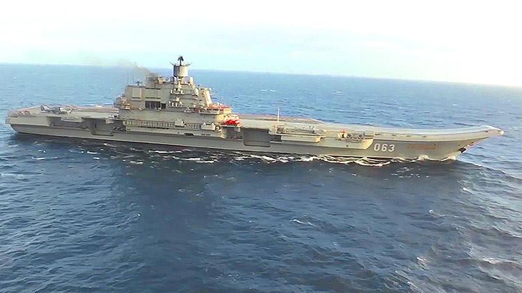 VIDEO: Buques de la OTAN escoltan el portaaviones ruso Admiral Kuznetsov