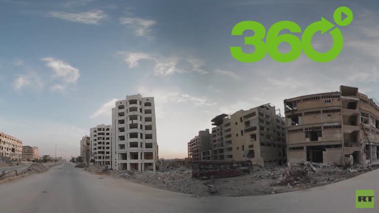 Alepo en 360º: Así son los devastadores efectos de la guerra en Siria
