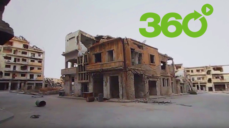 Homs en 360º: Montañas de escombros en una ciudad antes llena de vida y colores