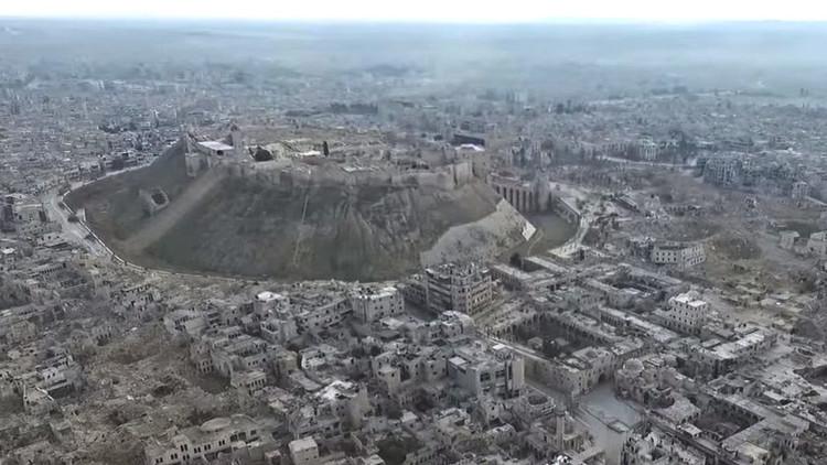 VIDEO: La devastación del este de Alepo tras ser liberado a vista de dron