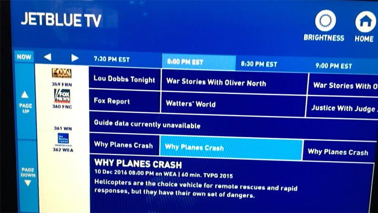 Una pasajera tiene que ver en vuelo un 'show' sobre accidentes de avión