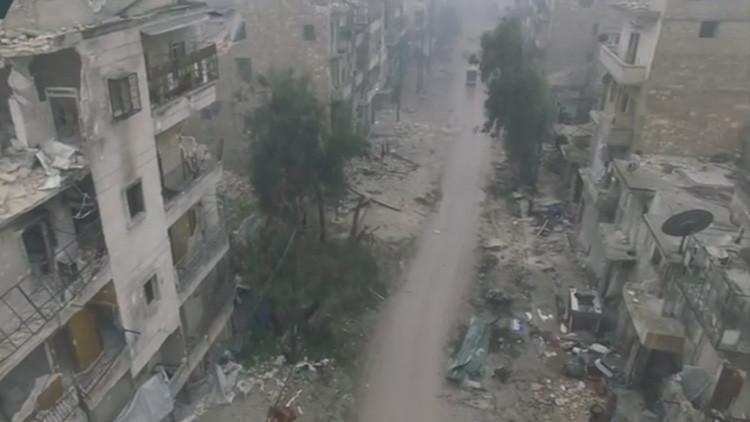 Lo que queda de Alepo: el este de la destrozada ciudad siria a vista de dron (VIDEO)