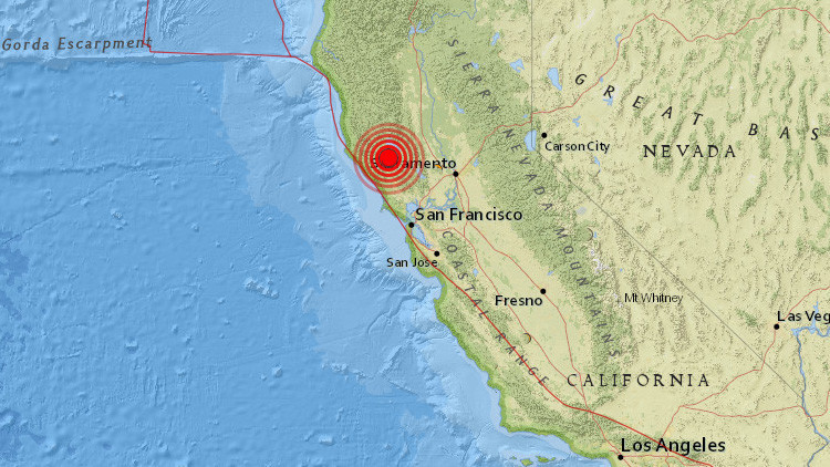 Un sismo de magnitud 5,0 se registra en California