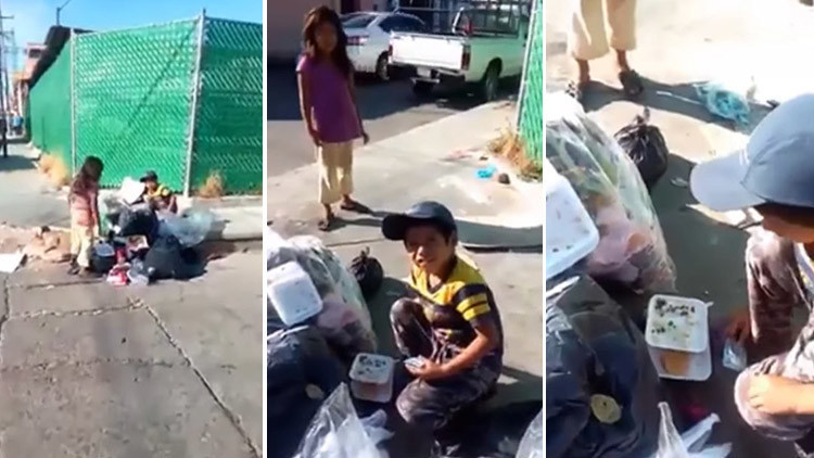 Video: Niños mexicanos rebuscando comida entre la basura indignan a la Red