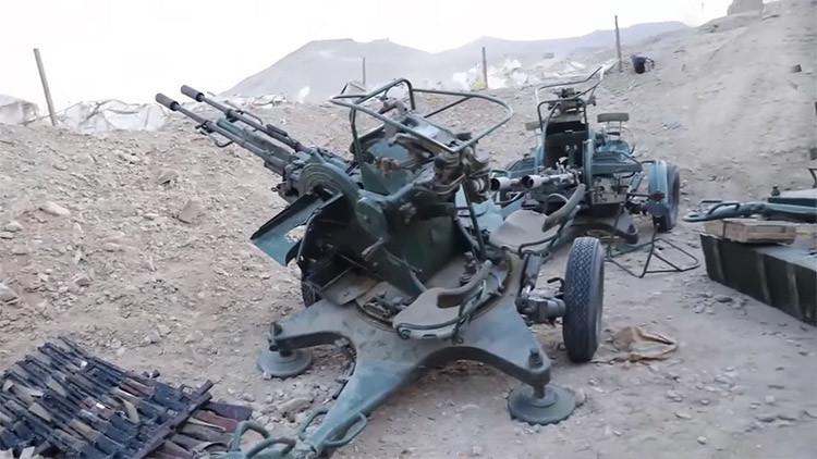 Rusia no considera una amenaza el armamento abandonado en Palmira