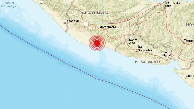Un fuerte sismo de 5,4 grados sacude Guatemala