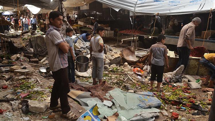 Una niña con un cinturón explosivo atenta en Damasco
