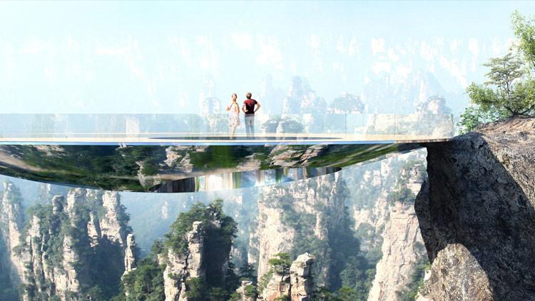 China construirá otro puente sobre un abismo y esta vez será 'invisible' (FOTOS)