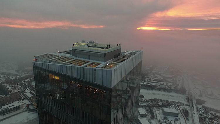 VIDEO: Las impresionantes vistas de la pista de hielo más alta de Europa captadas por un dron