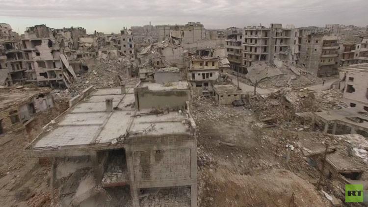 VIDEO: Las desoladoras imágenes de una destruida ciudad de Alepo se muestran a vista de dron
