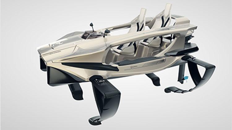 VIDEO: Quadrofoil, la futurista moto que vuela sobre las aguas