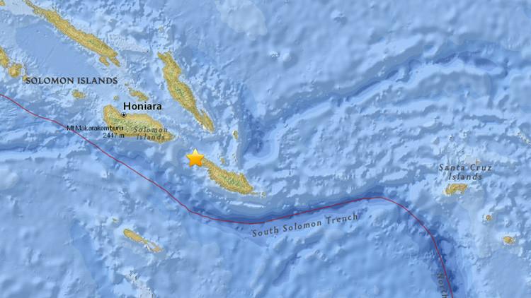 Un fuerte terremoto de magnitud 6,4 sacude las Islas Salomón