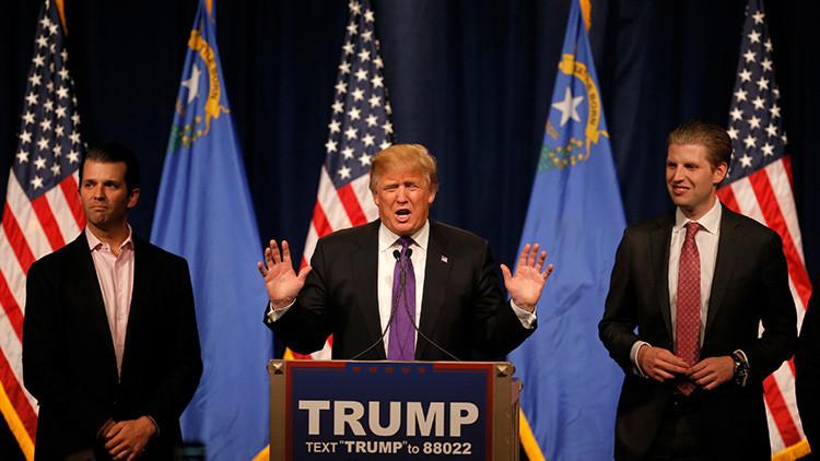 Los hijos de Trump ofrecen reuniones y cacerías con su padre por un millón de dólares