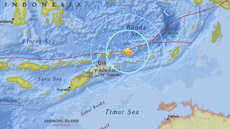 Un fuerte terremoto de magnitud 6,7 se registra cerca de las costas de Timor Oriental