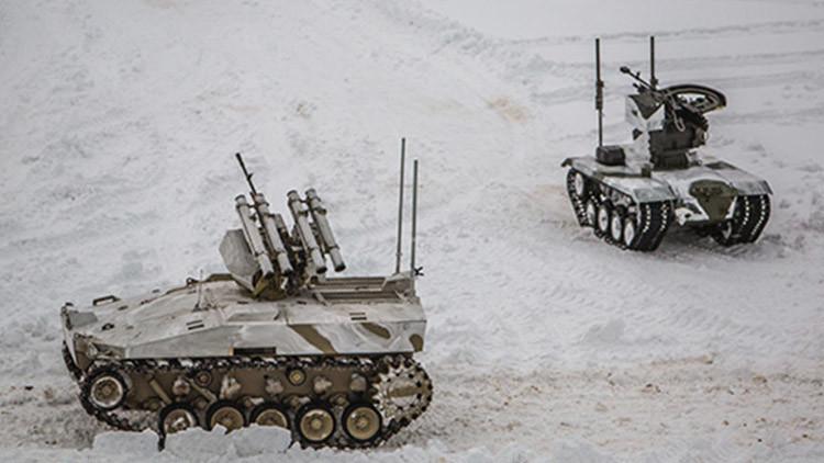 Así son dos nuevos robots de combate rusos en acción (VIDEO)