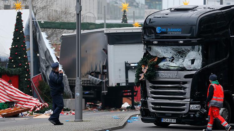 Publican el momento exacto del ataque del camión en el mercado navideño de Berlín