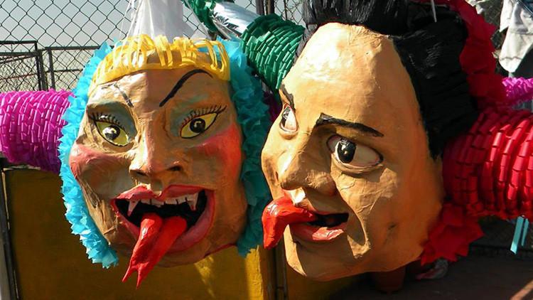"""Así se hacen las """"Peñatas"""": Piñatas navideñas de los políticos mexicanos"""