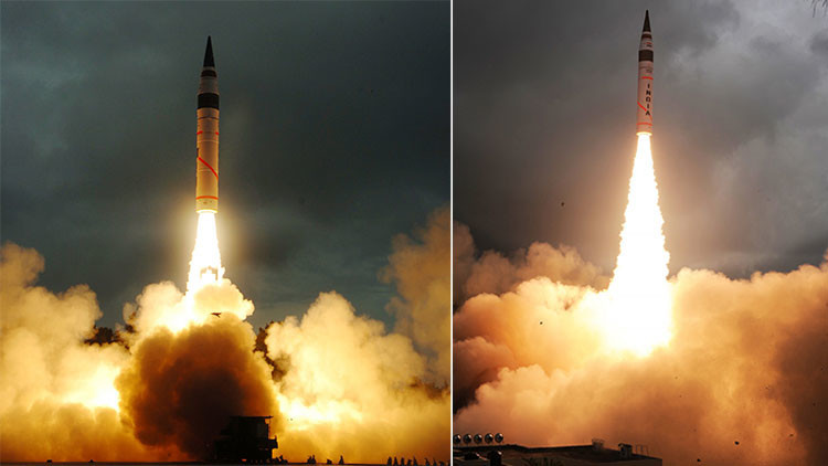 'El arma de la paz': India prueba con éxito su misil Agni-5 con capacidad nuclear